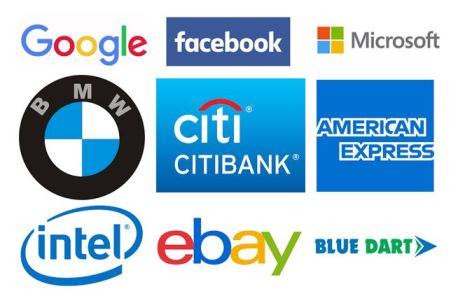 Different company logos.