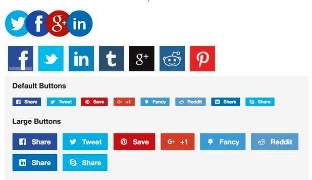 popular share buttons